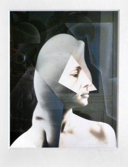 photocollage 1999 Ghislaine by frank Rheinboldt