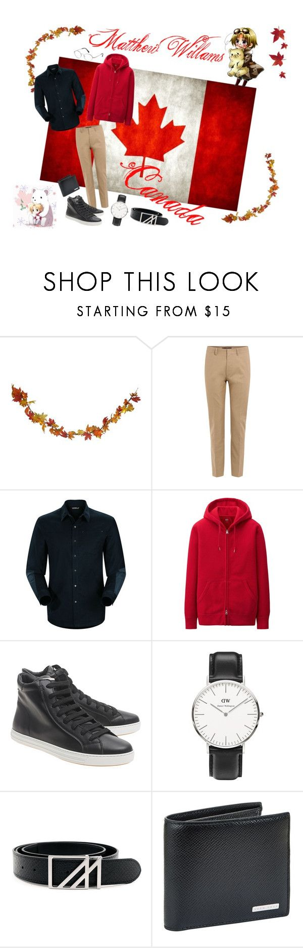 """Canada"" by meingottstopp19 ❤ liked on Polyvore featuring Polar, Valentino, Arc'teryx, Uniqlo, Dsquared2, Daniel Wellington, Mint, BOSS Hugo Boss, Tom Ford and men's fashion"