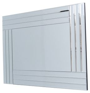 Mirrors With Mirror Frames: Three Panel framed Mirror 1050x740mm