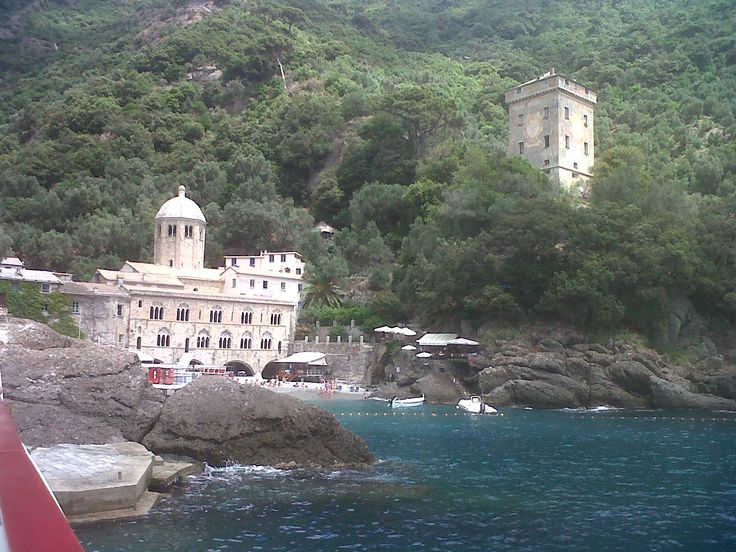 San Fruttuoso from the ferry