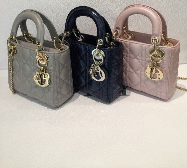 96084351094e Dior Grey/Black/Pink Lady Dior with Chain Mini Bags | Fashion in ...