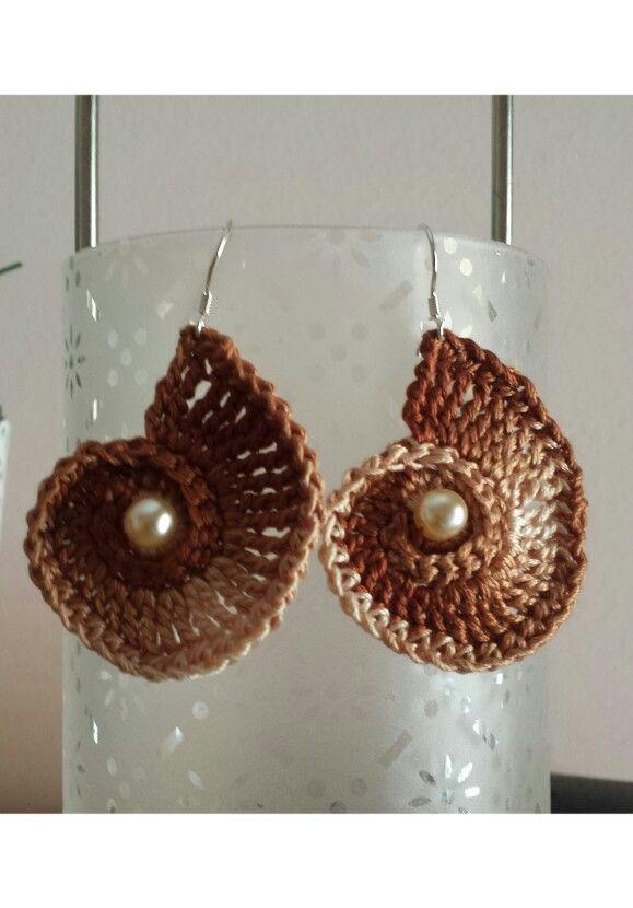 sea shell earring crochet