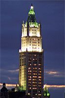 Woolworth Building at night, New York