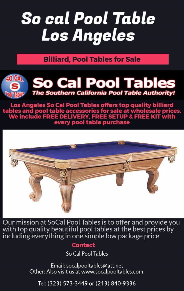 So Cal Pool Tables Socalpooltables On Pinterest - Sports authority pool table