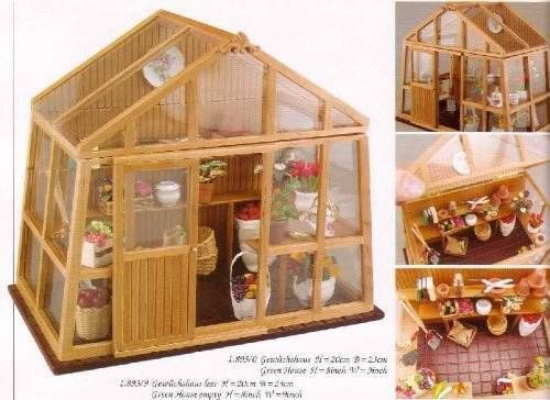 Dollhouse miniature 1 12 scale greenhouse potting shed for Mini potting shed