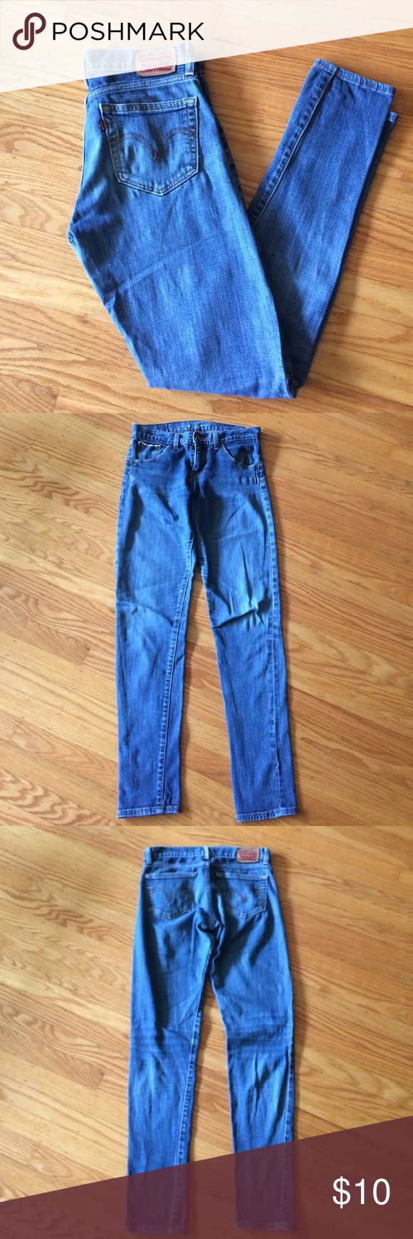 "👖LEVI'S 26 Boyfriend Skinny Fit Jeans W30, L31!!! Selling cheap! Levi's ""26 Boyfriend Skinny Fit"" Jeans. In well-worn condition. Seams wanting to come apart a little but will hold up for many more miles of wear. Waist measures 30 inches and inseam is approx. 31 inches. A good pair of ""kick-around"" jeans. No holes, rips, etc. Bundle these with other items from my closet to save 💰💰💰. Thank you for shopping here! I 💖my Posher Pals! Levi's Jeans Boyfriend"