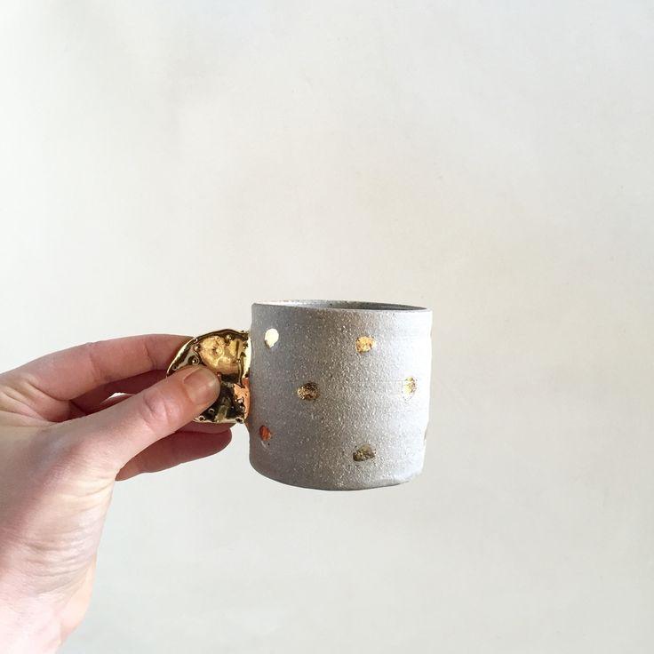 Bridget Bodenham - gold spotty treasure cup