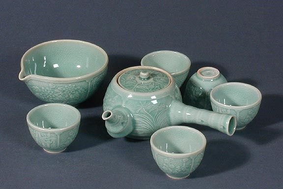 Celadon Tea Ware. Traditional Korean Tea Service