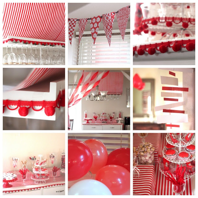 sips etc. red-and-white blog launch party! but the decoration ideas would be great for Canada Day