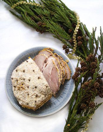 Traditionell julskinka med senapsgriljering