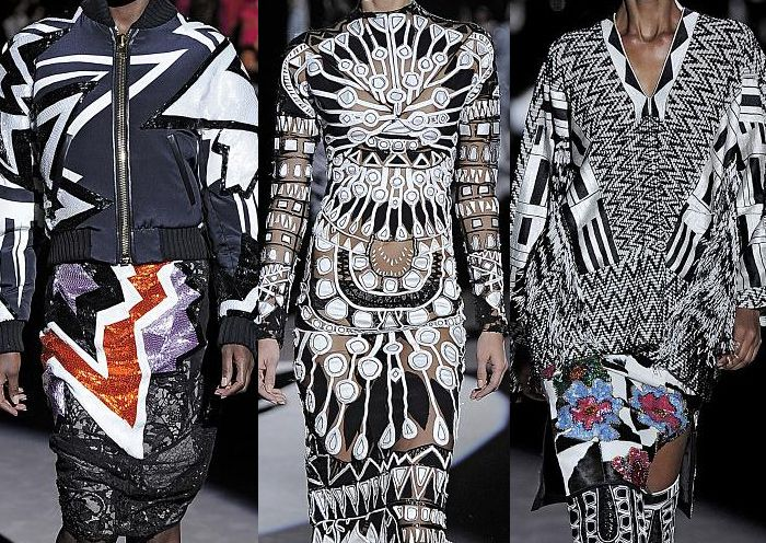 London Fashion Week – Autumn/Winter 2013 – Print & Pattern Highlights – Part 2 catwalks