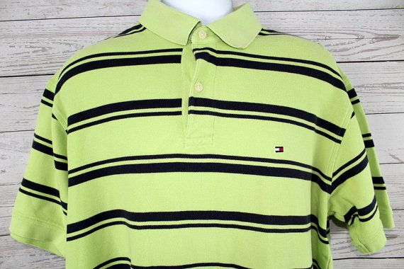 vtg Tommy Hilfiger Polo Men's XL  Green by SouthLakeThreadsCom