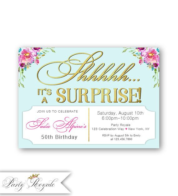 The 25 best 50th birthday party invitations ideas – 50th Birthday Surprise Invitations