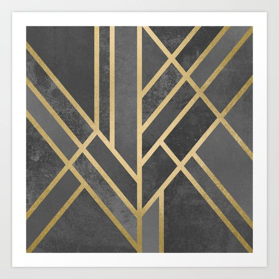 Art Car Museum >> Buy Art Deco Geometry 1 by Elisabeth Fredriksson as a high quality Art Print. Worldwide shipping ...