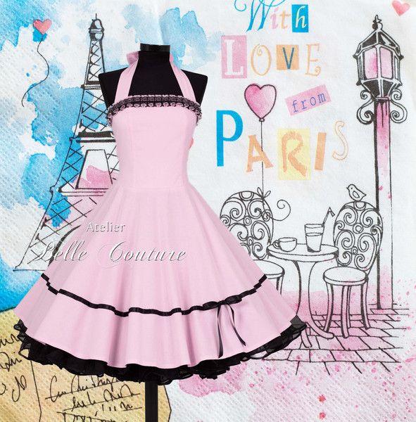 Petticoatkleider – Petticoat Kleid Abiball Jugendweihe Brautjungfer – ein Designerstück von atelier-belle-couture bei DaWanda