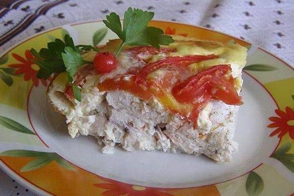 Gentle casserole of chicken with tomatoes