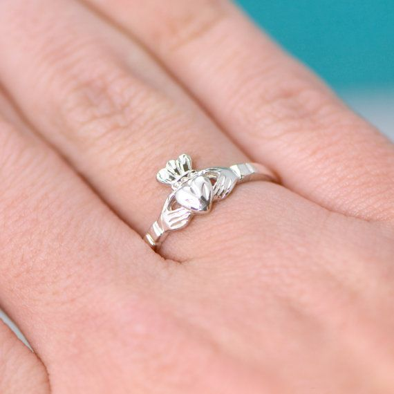 Sale Sterling Silver Claddagh Ring  by TheJewelryGirlsPlace