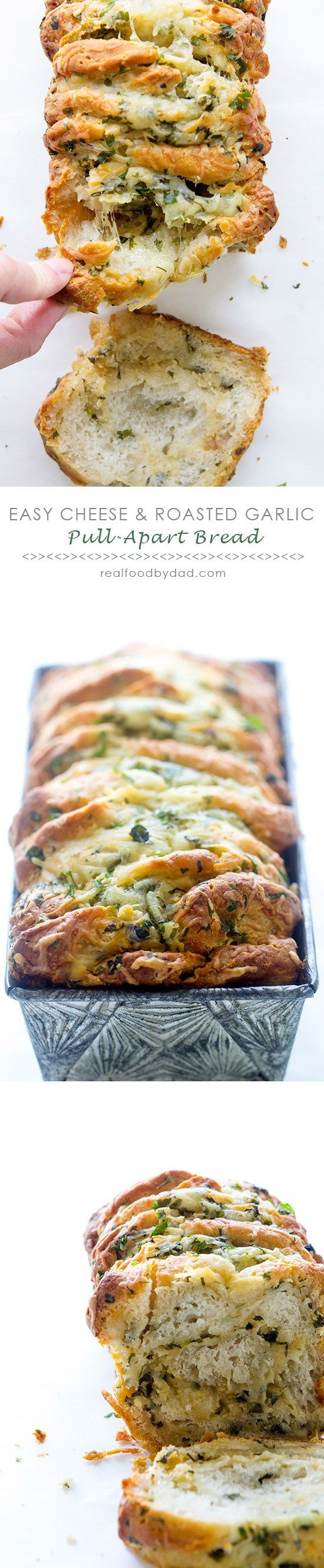 Easy Cheese and Garlic Pull-Apart Bread