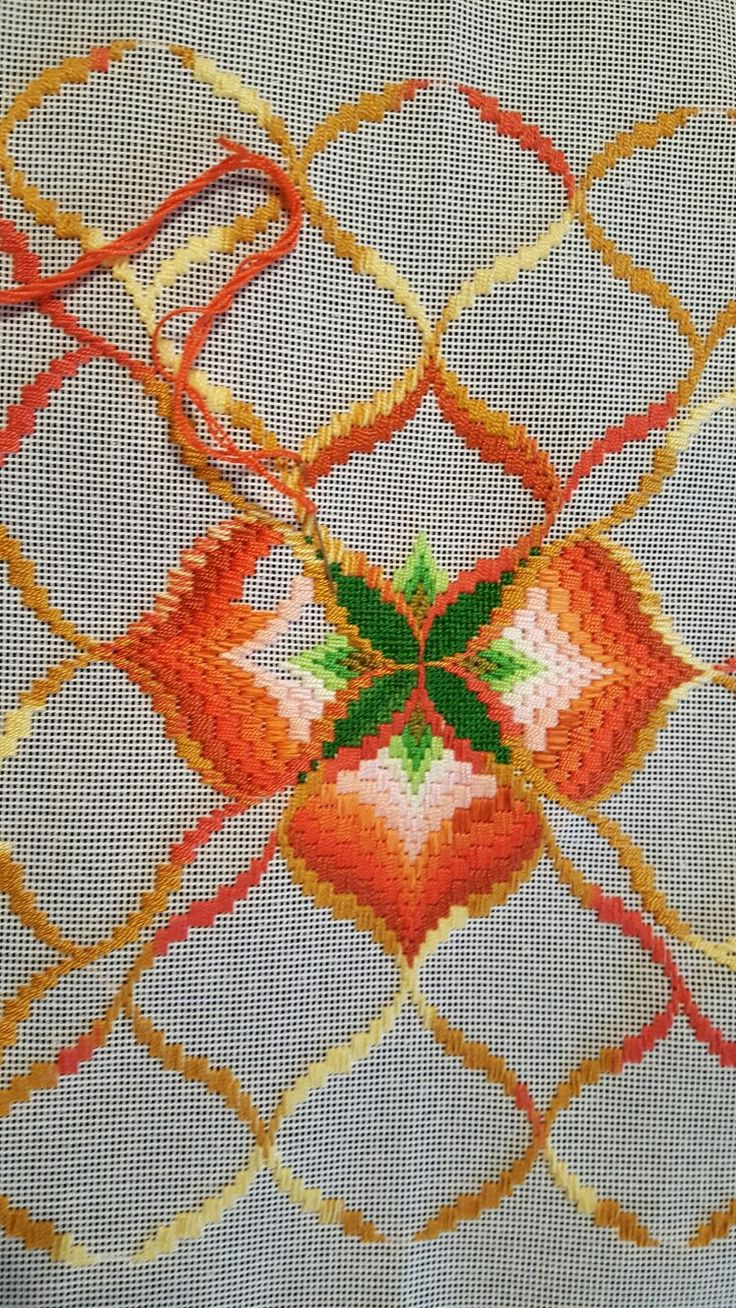 My eighth Bargello in process!!!!