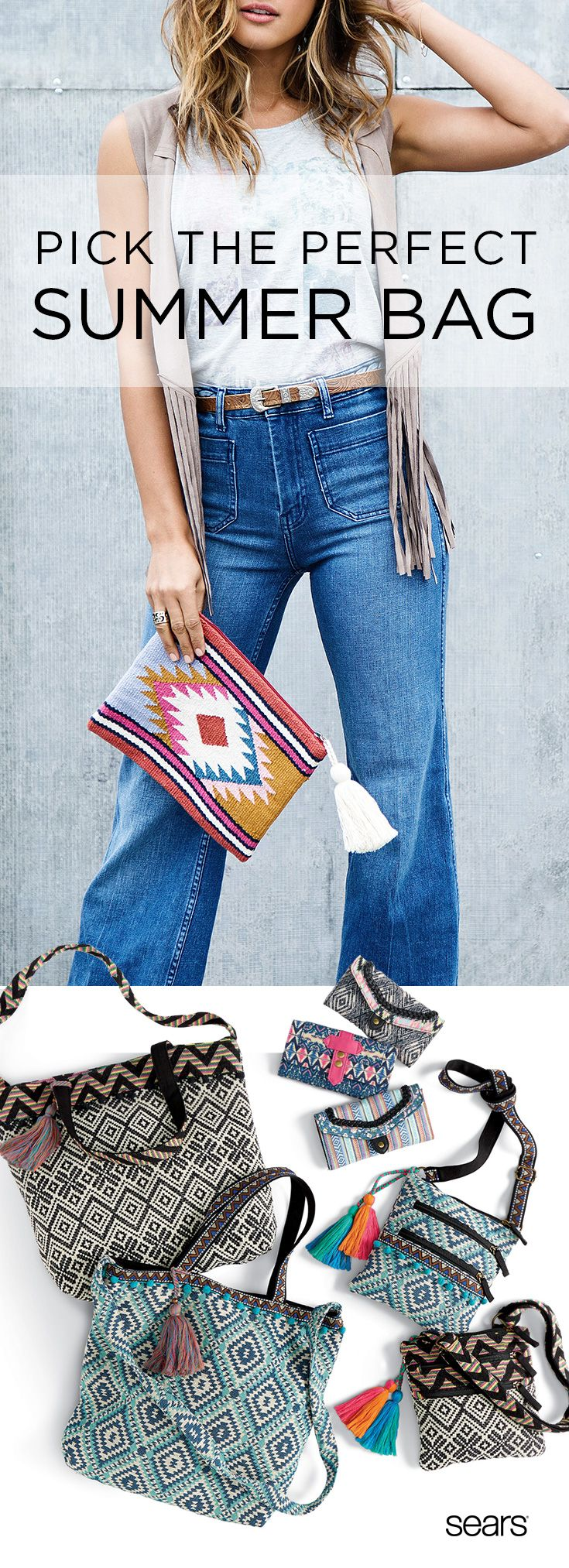 Your summer plans are finally coming together – all you need now is the perfect boho bag. Prepping for a night out? Travel light with the rhapsody clutch wallet or the  rising sun crossbody by Bongo. During the workweek, the Istanbul satchel from Bongo and Global Soul hobo from Canyon River Blues are perfect for toting to the office. And when it's vacation time, pack like a pro with the Cyprus expandable tote from Canyon River Blues. Discover more at Sears – the best tribal-print bags are…
