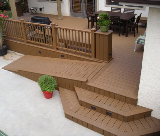 Trex Accents Deck With Ramp. Very Clean, Safe, And I Love The Lighted Stair  Steps.