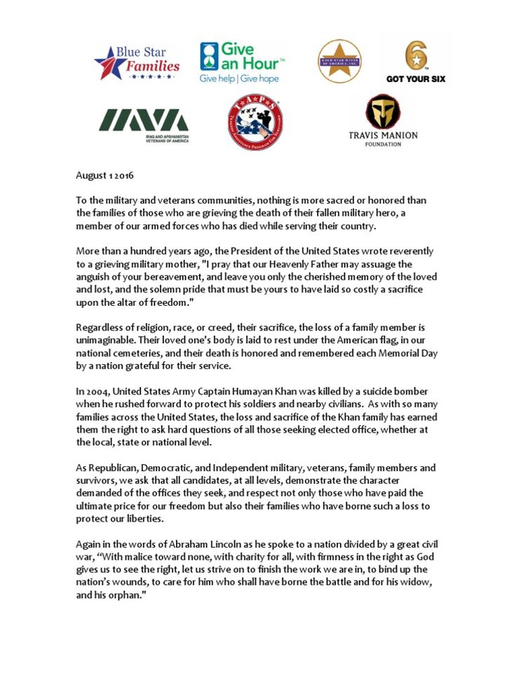 I'm reading Letter to Candidates on Respecting Gold Star Families on Scribd