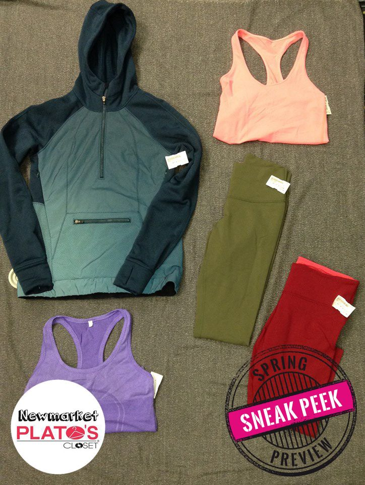 TONS of #Lululemon items will be hitting the floor at our Spring Preview! Pick up your athleisure looks for LESS! | www.platosclosetnewmarket.com