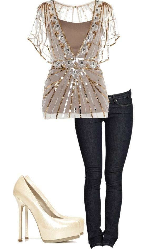 Cute sparkly top cute outfits accessories pinterest for Glitter new years dresses
