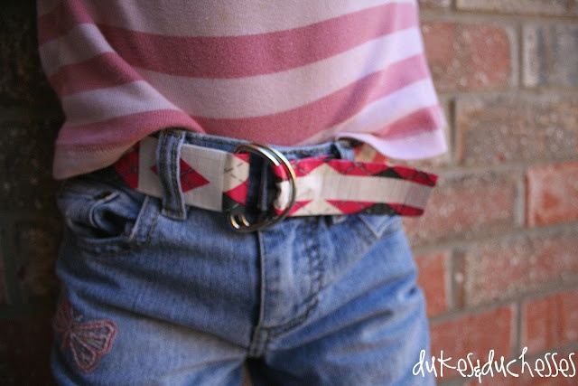 Dukes and Duchesses: A Duct Tape Belt {for Girls} - super cute and fun project idea for tweens