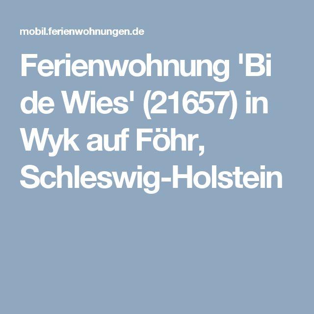 Ferienwohnung 'Bi de Wies' (21657) in Wyk auf Föhr, Schleswig-Holstein