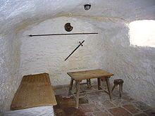 Interior de los medranos, donde vivió los últimos años de su vida