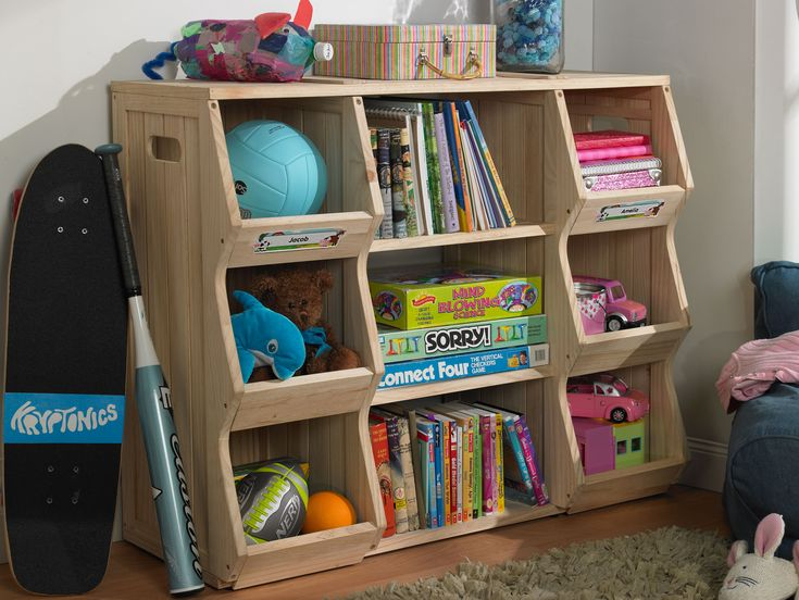 Kids Bookshelf Storage Shelves System Cubby | GreenHome123