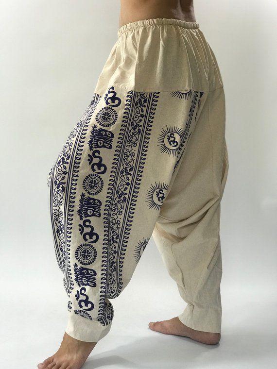Linen Pants Baggy Trousers Linen Drop Crotch Pants Wide Legs Pants Flax Clothing Maxi Trousers Linen Harem Pants High Waisted Pants