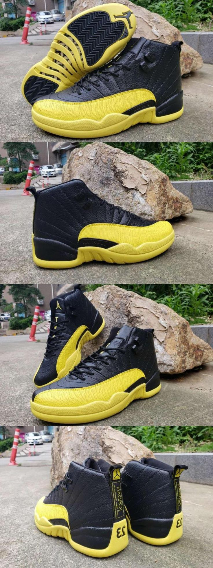 "2020 的 Air Jordan 12 ""bumblebee"" Black Yellow For 主题"