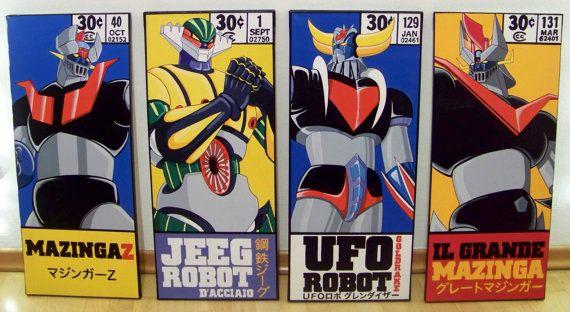 Go Nagai Robots corner box - Mazinga Z - Jeeg Robot - Goldrake - Il Grande Mazinga