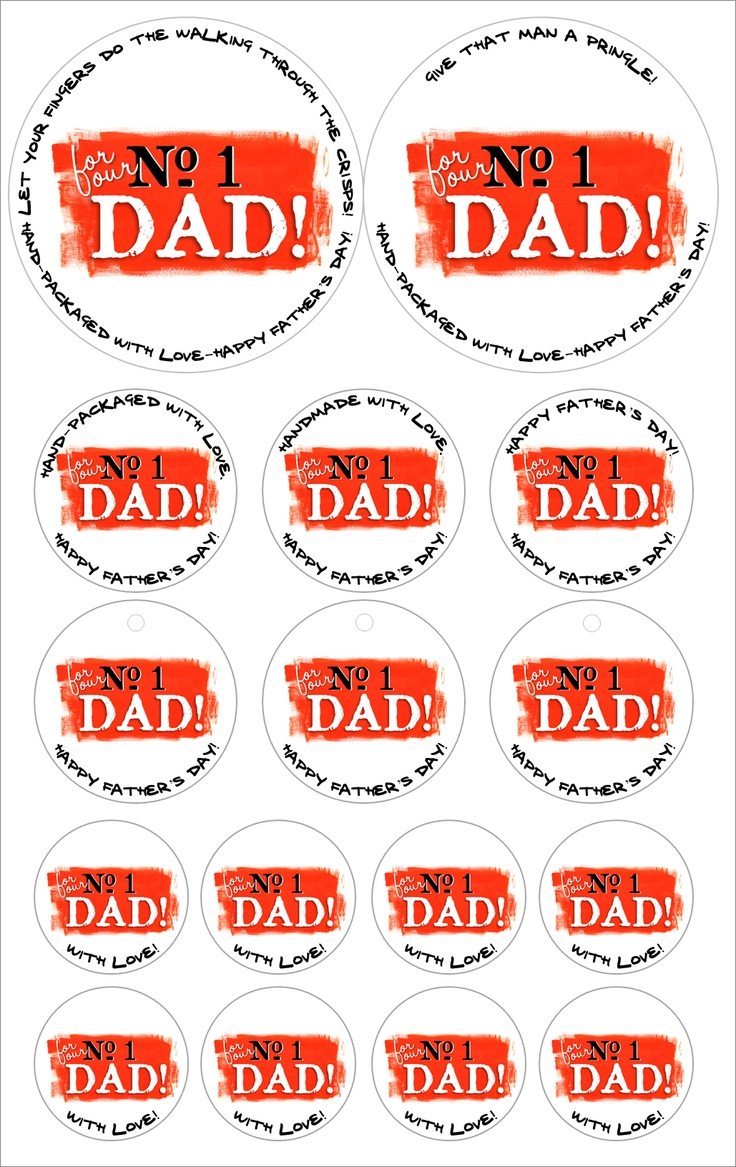 Father's Day Seals & Stickers #printables
