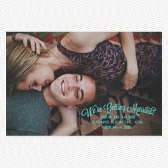Quilted Save the Date Postcards
