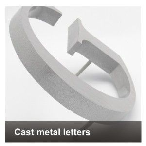 cast metal metalen letters