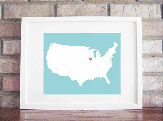 home is where the heart is: Second Heart, States Art, Etsy, Cute Ideas, State Art, My Heart, Neat Ideas, Heart Pictures, U.S. States