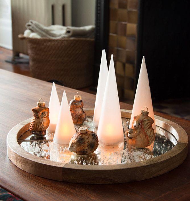 Design*Sponge | Holiday Lights diy with wax paper + electric tea lights