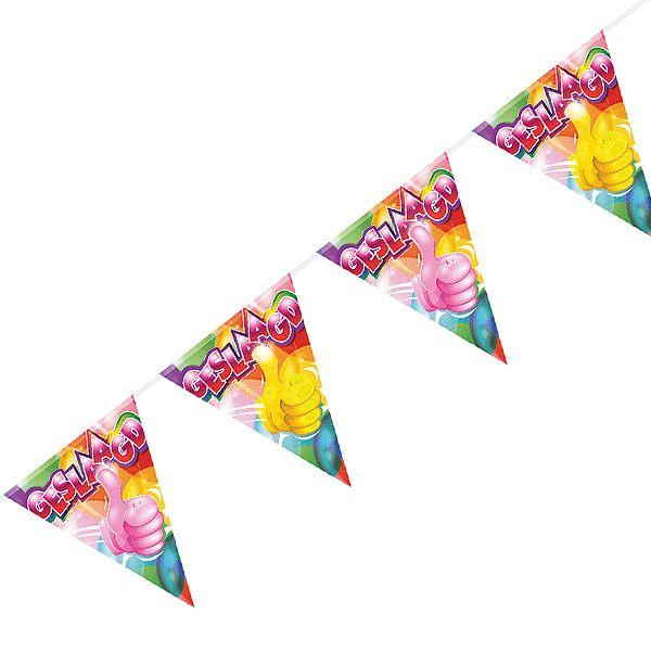 Geslaagd vlaggenlijn. Geslaagd feestje? Bij Fun en Feest vind je de leukste geslaagd feestartikelen, versiering en decoratie.