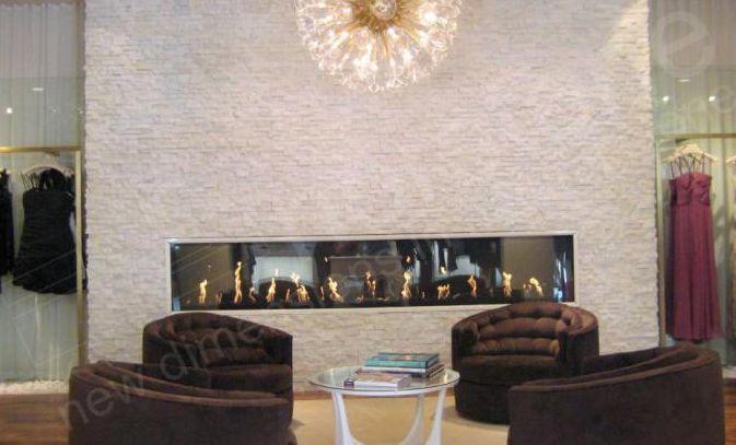 White Quartz Rock Panel Fireplace Feature Wall Staxstone