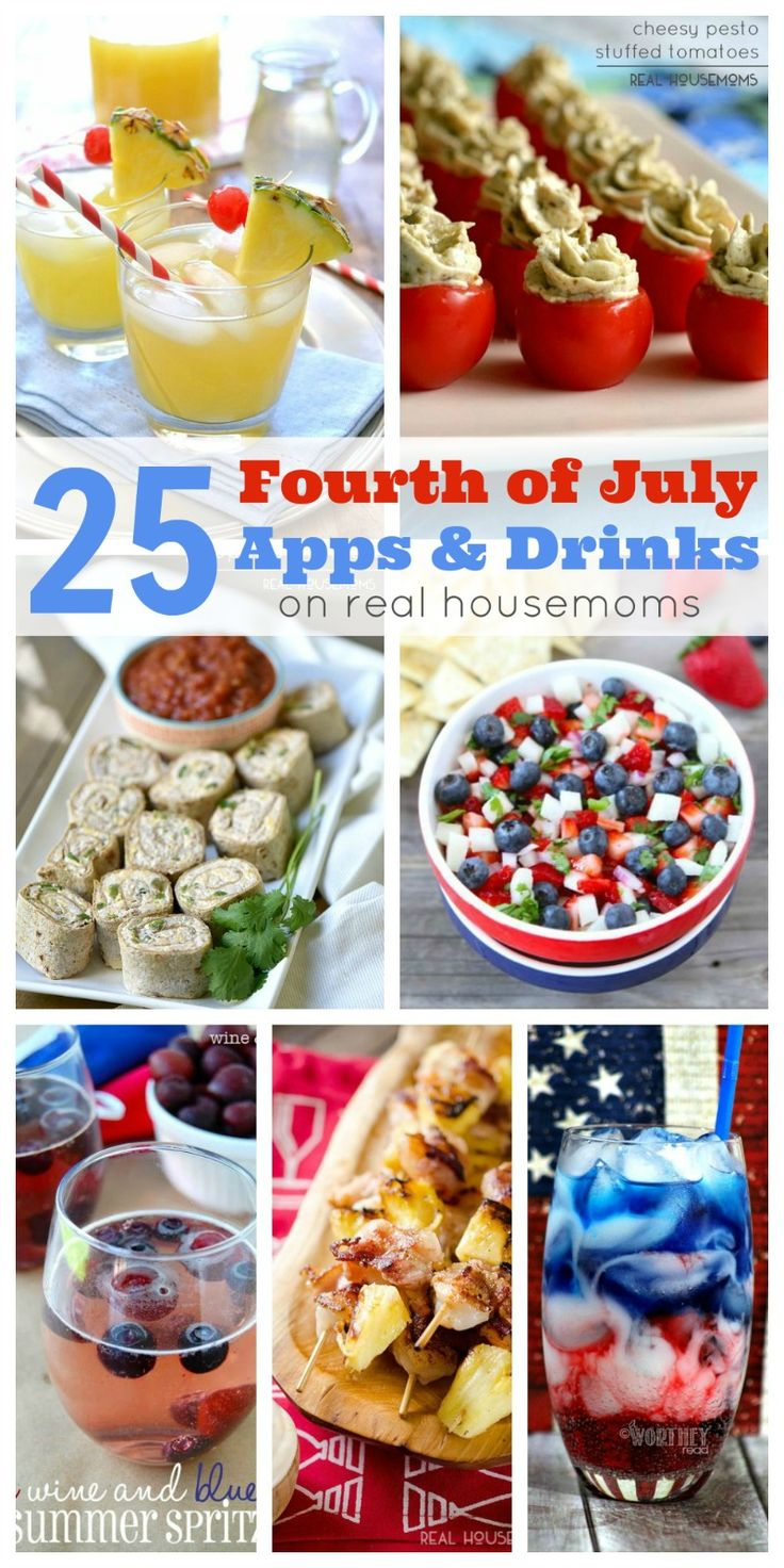 25 Fourth of July Apps & Drinks - Real Housemoms