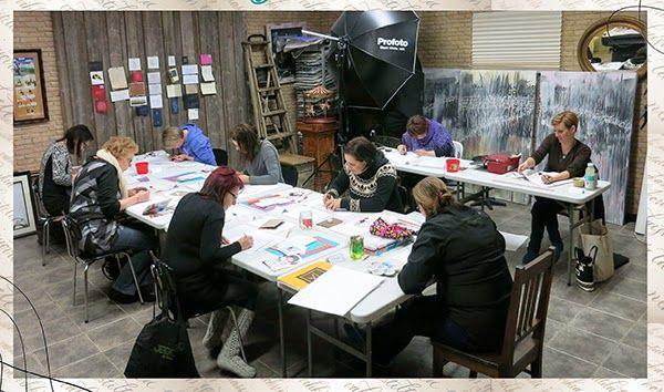 workshop at my studio - kalligrafia kurssi työtilassani