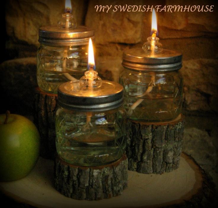 Rustic Wedding Oil Lamps -- easy peasy!
