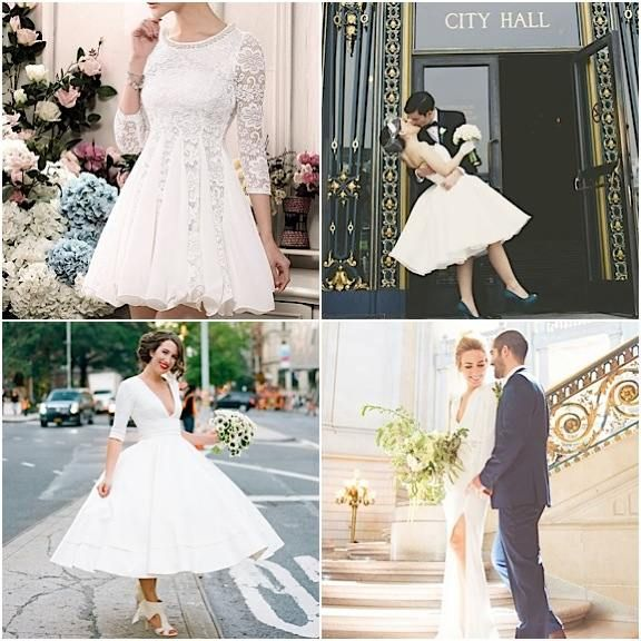 Gorgeous City Hall Wedding Dresses For The Stylish Bride