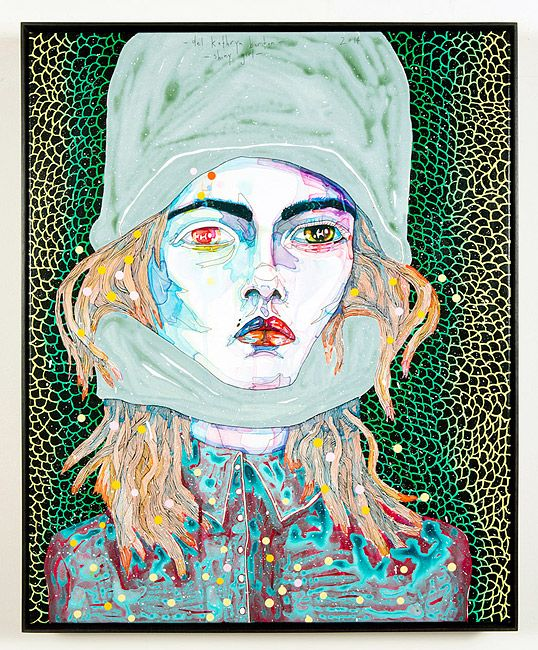 Del Kathryn Barton 'Electro Orchid' Exhibition at Roslyn Oxley 9   http://www.roslynoxley9.com.au/artists/297/Del_Kathryn_Barton/1572/