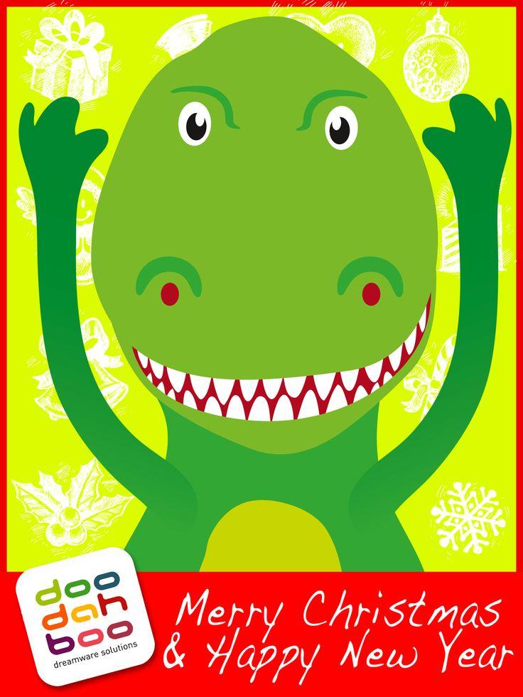 Tyrannosaurus Christmas Greetings Card