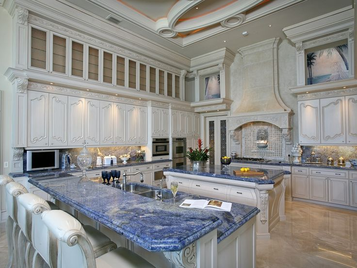 Elegant Blue Bahia Granite Countertop