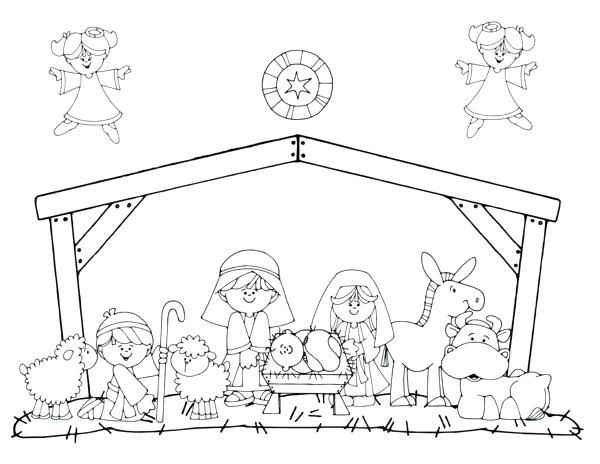 Free Nativity Coloring Pages To Print Printable Nativity Coloring